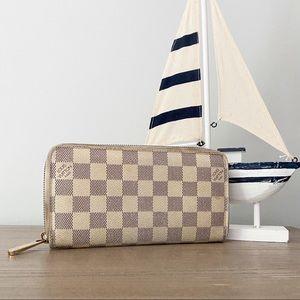 💞AZUR LONG WALLET💞 Auth Louis Vuitton Zippy